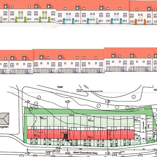 Planung eines Mehrfamilienhauses mit 16 Wohneinheiten